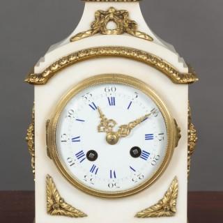 White Marble Mantel Clock