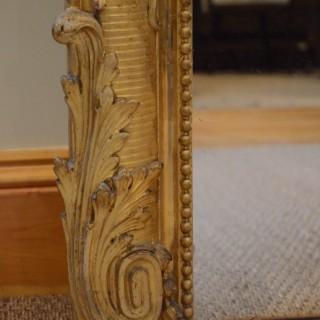 Superb 19th Century Giltwood Floor Standing Mirror