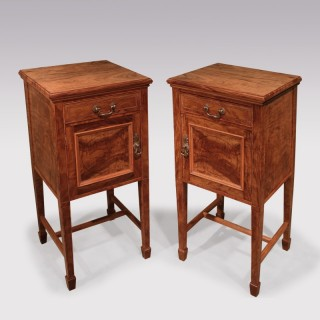 Pair Of 19th Century Olivewood Bedside Cabinets