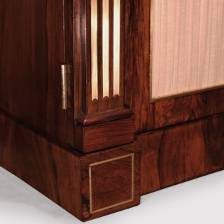 Regency Period Rosewood and Brass Inlaid Chiffonier