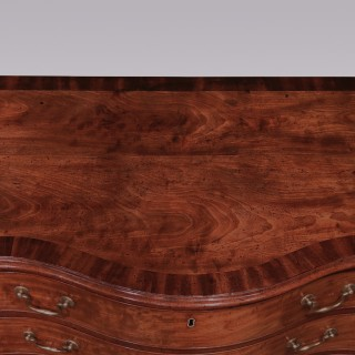 A fine mid 18th Century Chippendale period well-figured & faded mahogany Serpentine Chest
