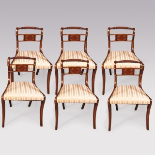 A set of 6 single mahogany Dining Chairs