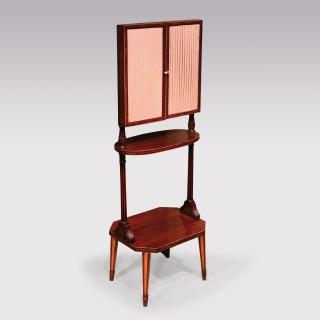 An Unusual George III Period Mahogany Fold Out Dressing Mirror