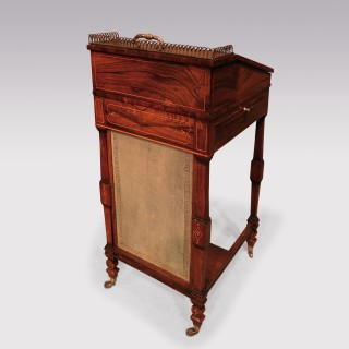 An Attractive Early 19th Century Regency Period Rosewood Davenport