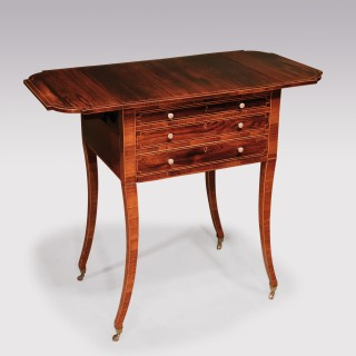 A fine quality early 19th Century Regency period rosewood Occasional Table