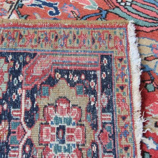 Antique Ahar Heriz carpet