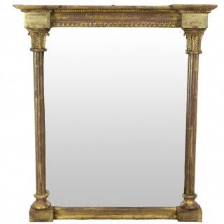 A SMALL REGENCY MIRROR