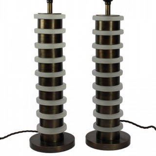 PAIR DECO STYLE TABLE LAMPS