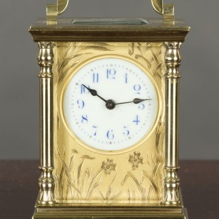 Art Nouveau  French Carriage Clock