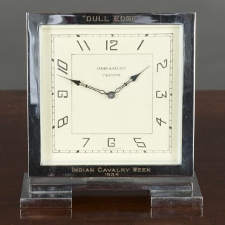Art Deco Chrome Mantel Clock
