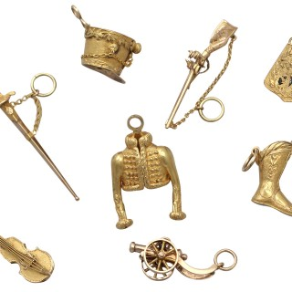 18ct and 21ct Yellow Gold Bracelet Charms - Napoleonic Hussar - Antique French Circa 1810