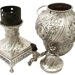 Sterling Silver Samovar - Regency Style - Antique George III