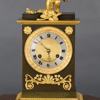 Charles X French  Bronze and Ormolu Automation Clock