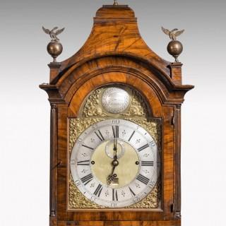 AN UNUSUAL, LATE 19TH CENTURY, LONGCASE CLOCK IN WALNUT ENGRAVED WILLIAM HARRIS