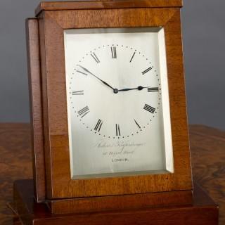Mahogany Sedan Clock by Aubert & Klaftenberger, London