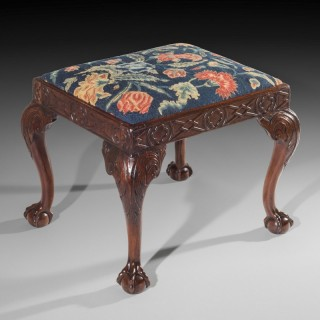 18th Century George II Walnut Needlework Stool