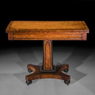 Regency Amboyna Side Table
