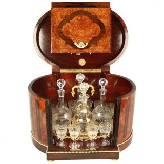 Louis XVI Style Gilt Bronze  and Bird's-Eye maple Tantalus or