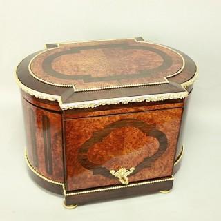 Louis XVI Style Gilt Bronze  and Bird's-Eye maple Tantalus or