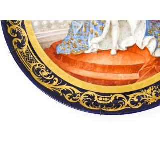 Antique large Sevres Porcelain Charger Louis XV M.Rochette 19th C