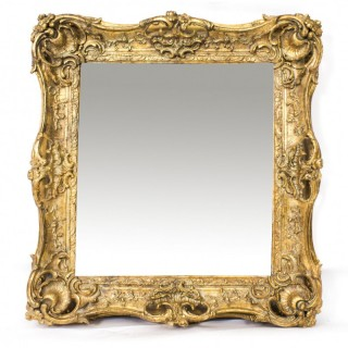 Antique Victorian Giltwood Mirror c.1870 - 100x90cm