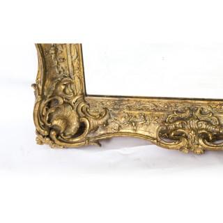 Antique Victorian Giltwood Mirror c.1870 - 100x90cm