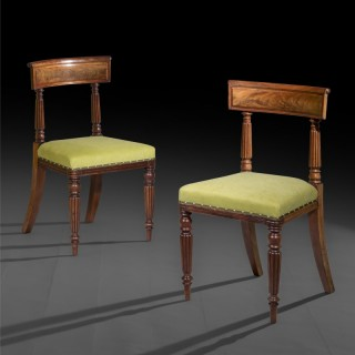 Eight Regency Dining Chairs, in the manner of George Bullock