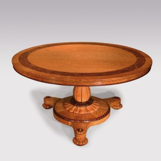 A Fine Mid 19th Century Birdseye Maple Centre Table