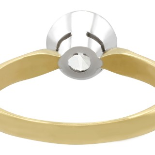 1.28 ct Diamond and 18 ct Yellow Gold, 18 ct White Gold Set Solitaire Ring - Contemporary 2000