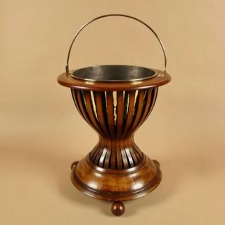 A Dutch Very Decorative and Useful Mahogany and Brass Jardinière. Circa 1850-1870.
