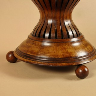A Dutch Very Decorative and Useful Mahogany and Brass Jardinière. Circa 1850-1870.