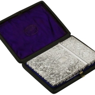 Sterling Silver Card Case - Antique William IV (1835)