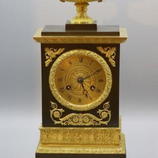 Early 19th Century French Bronze & Ormolu Eight Day Silk Suspension Striking Clock