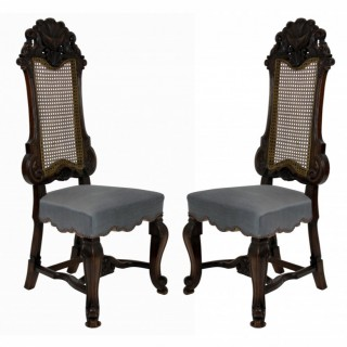 A PAIR OF FINE GEORGE TROLLOPE & SONS HALL CHAIRS