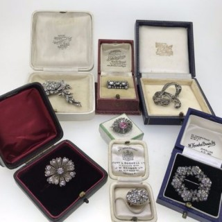 Antique Paste brooches