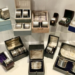 Selection of Antique Silver Napkin Rings