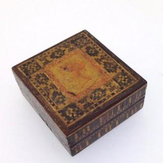 Tunbridge Ware Stamp Box.