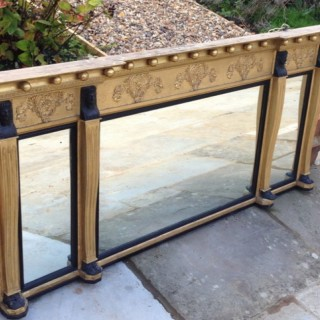 Antique Gilt Overmantle Mirror.