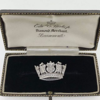 Diamond and Platinum Naval Brooch.