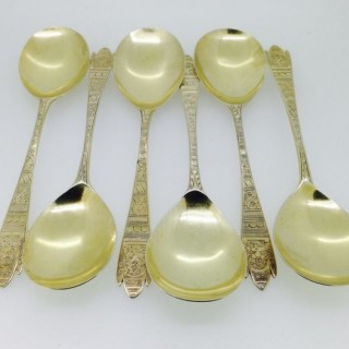 Six C18th : Smith Sharp Chawner and Sallam Silver Spoons