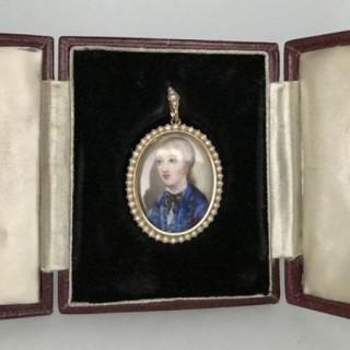 Antique Miniature on Porcelain.