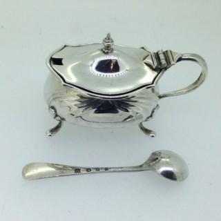 Art Nouveau Silver Mustard Pot.