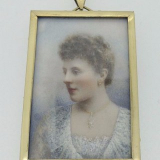 Antique Portrait Miniature.