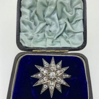 Diamond Star Brooch.