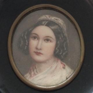 Antique Oval Portrait Miniature.