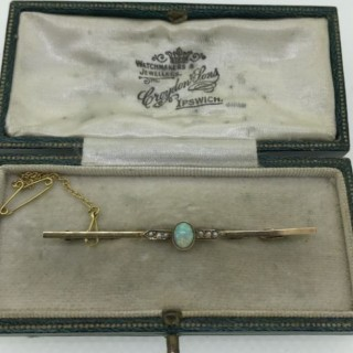 Belle Epoque Opal and Gold Brooch.