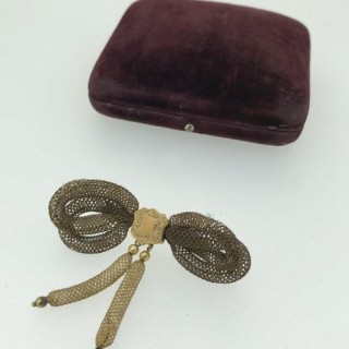 Regency Gold and Hair Brooch.