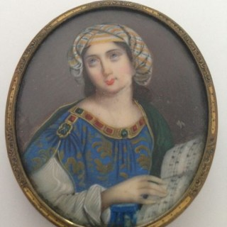 C19th Continental Miniature.