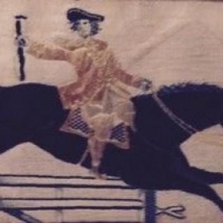 Antique Stevengraph of Dick Turpin.