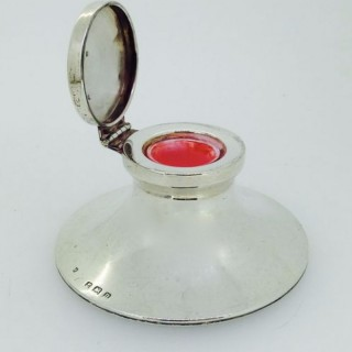 Antique Silver Inkwell.